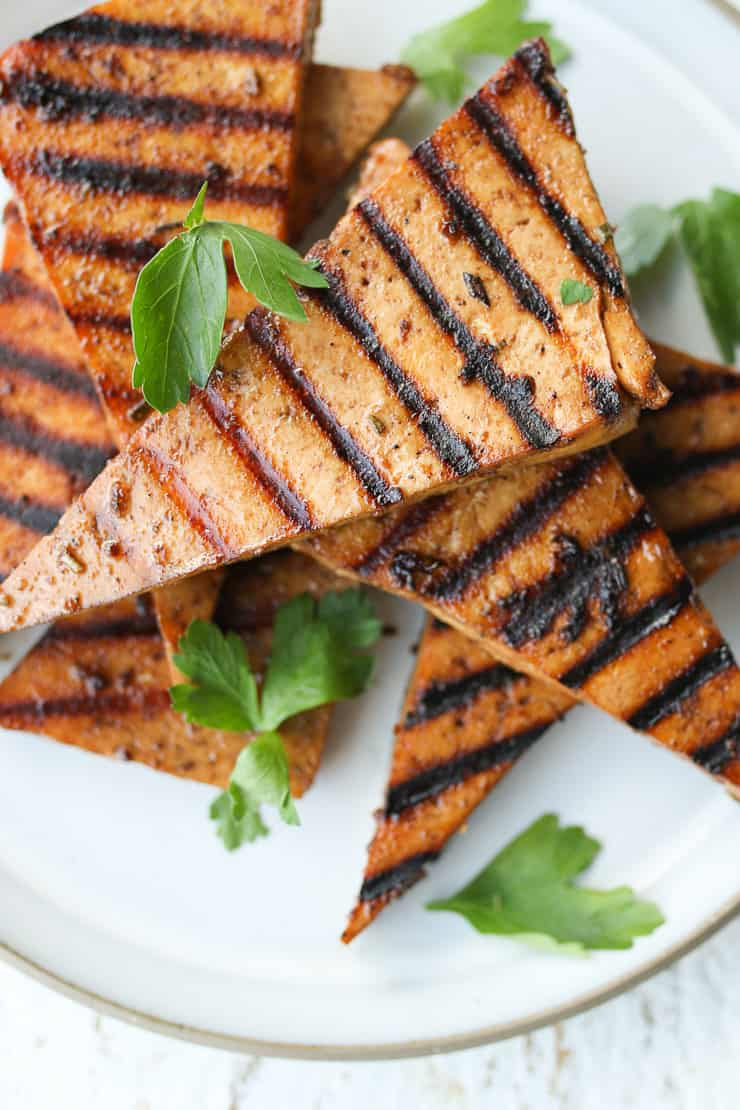 The Best Tofu Marinade Grilled Baked Panfried Abbey S Kitchen