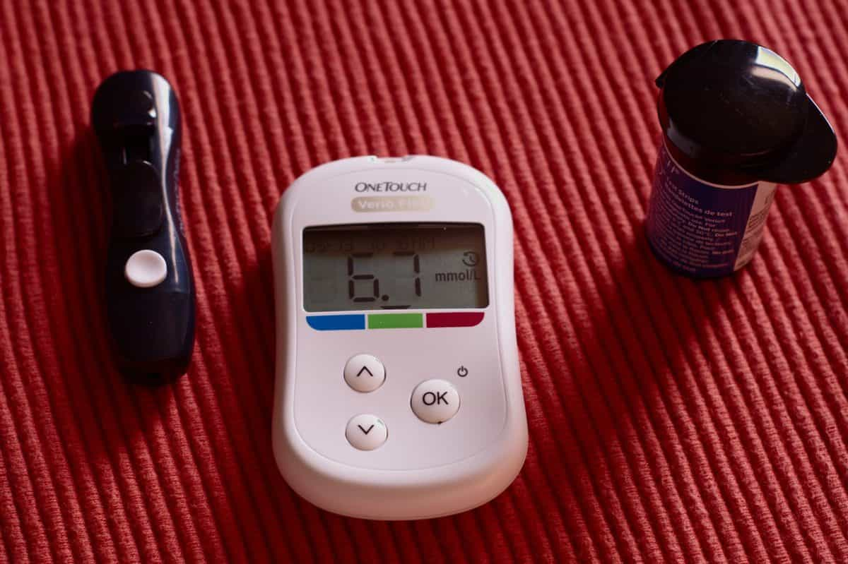 image of a glucometer for glucose testing