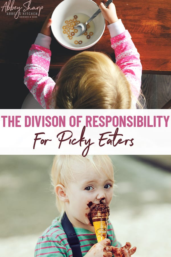 pinterest image for the division of responsibility for picky eaters
