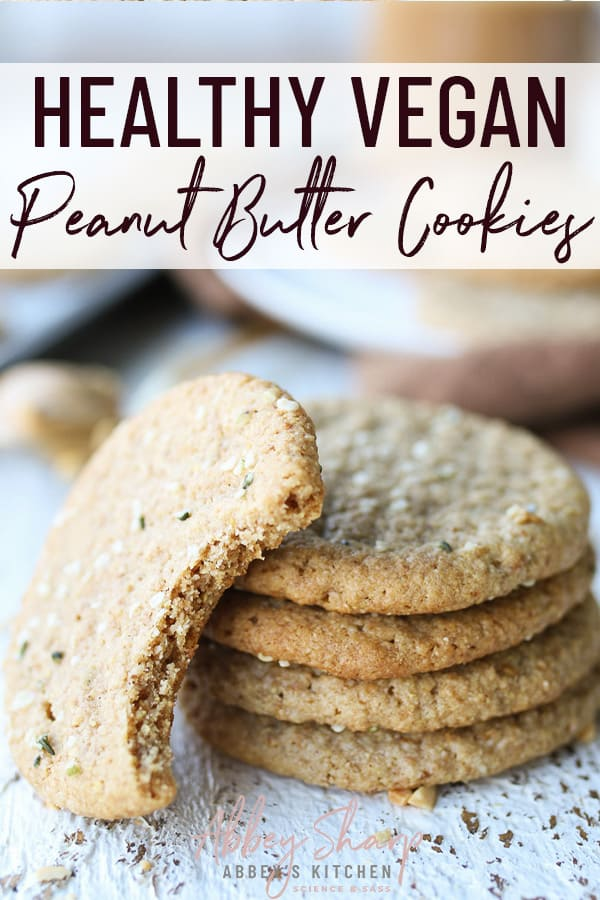 pinterest image of peanut butter cookies
