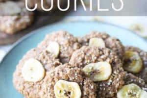 pinterest image of banana oatmeal cookies
