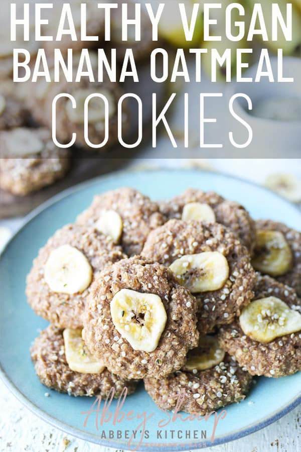 pinterest image of banana oatmeal cookies