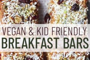pinterest image of breakfast bars