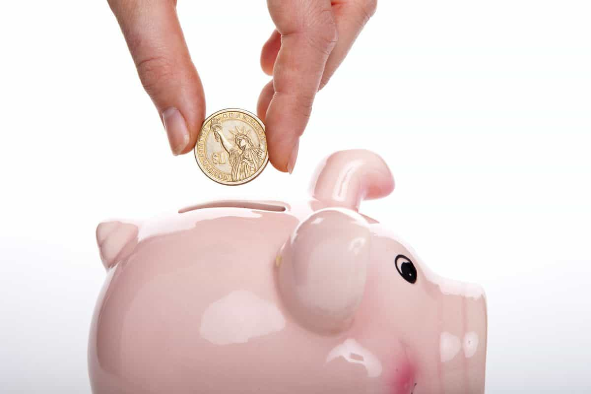 a pink piggy bank to plan for financial future