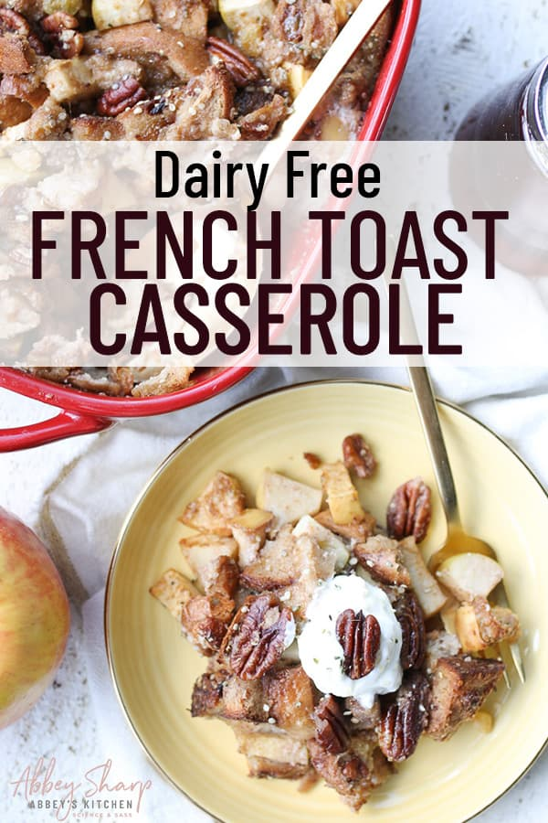 pinterest image for french toast casserole