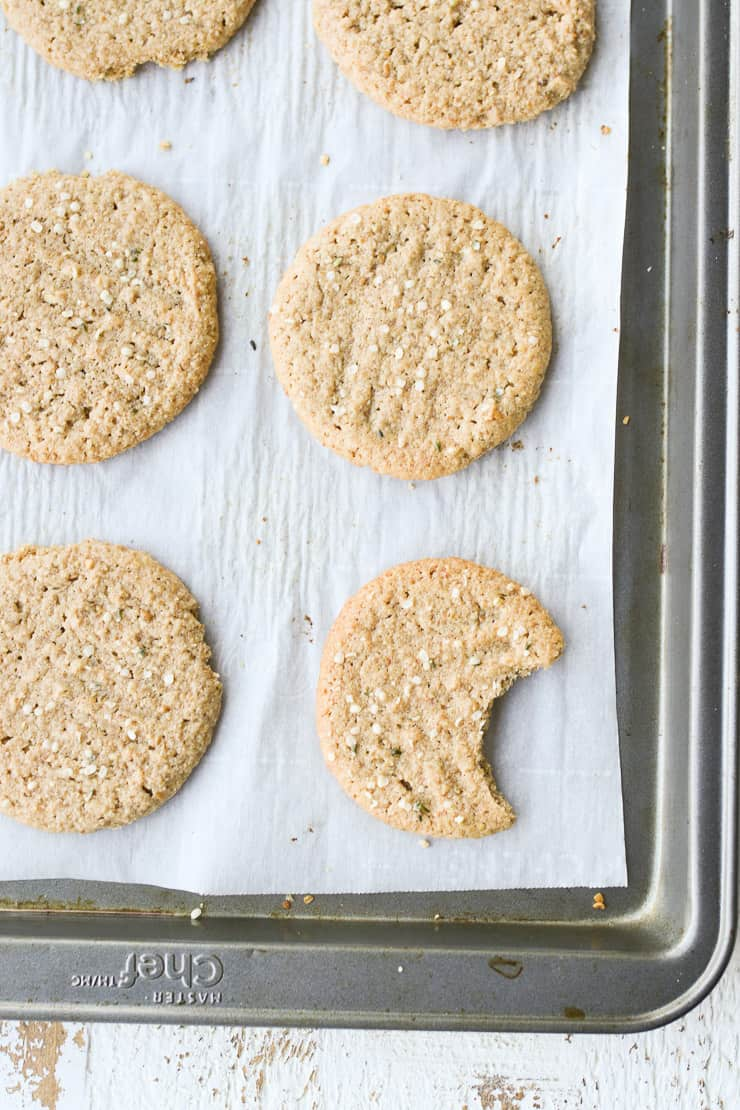 peanut butter cookies on a baking tray