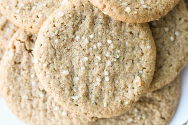 birds eye view of healthy peanut butter cookies