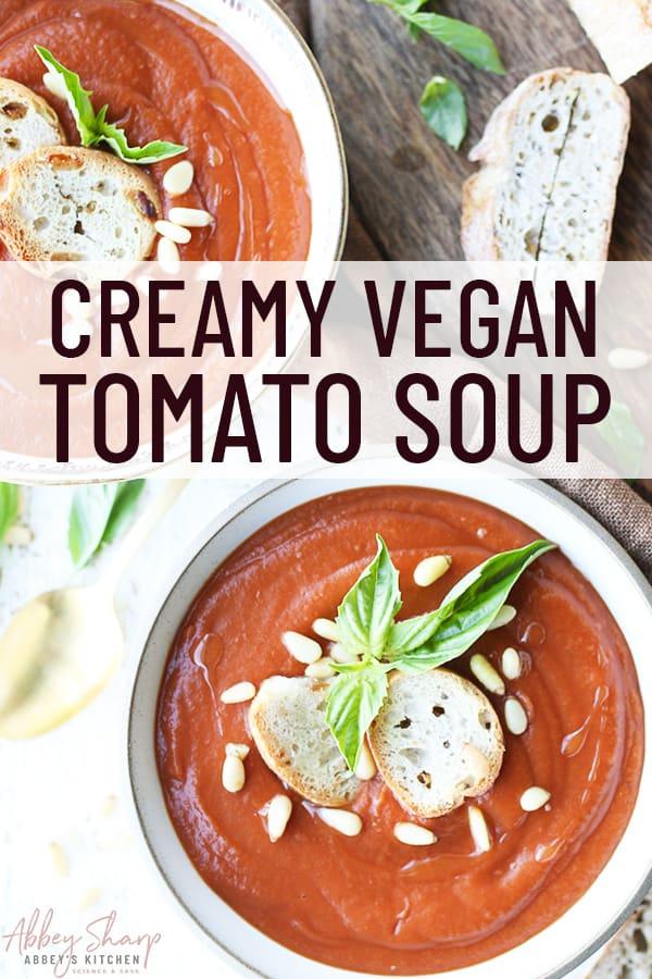 pinterest image of tomato soup