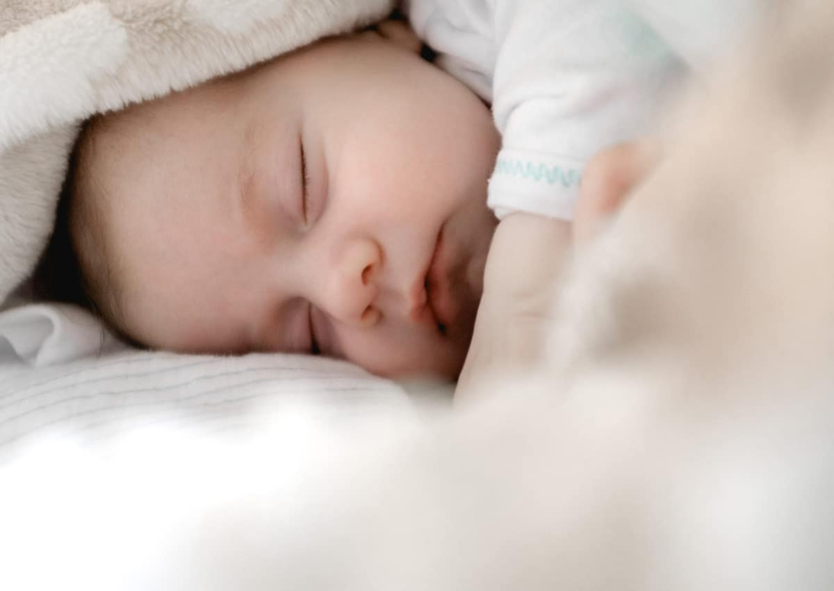 A sleeping baby.