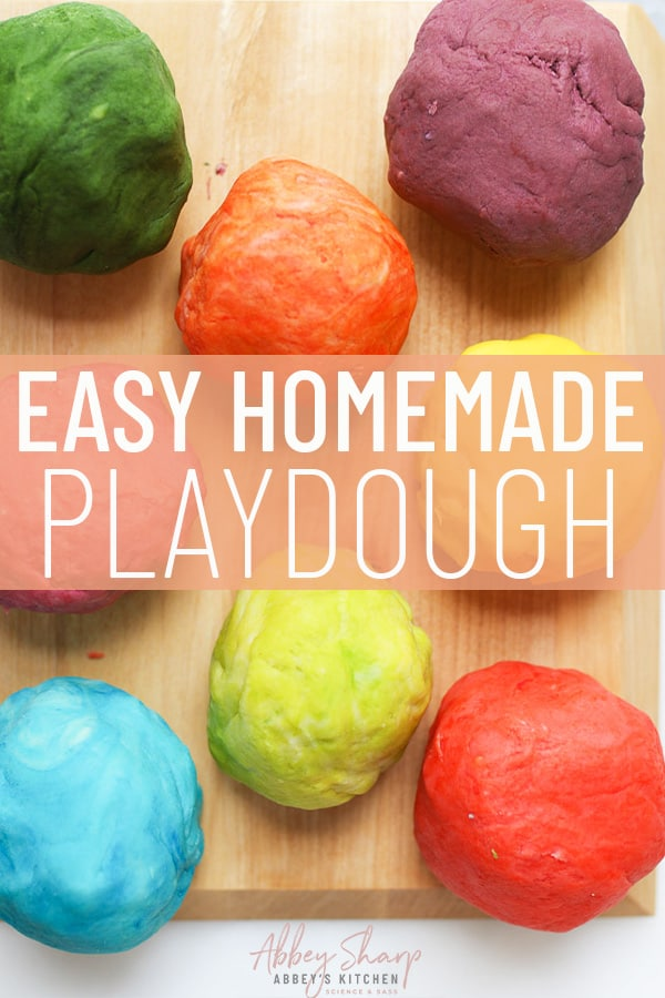 pinterest image of easy homemade playdough