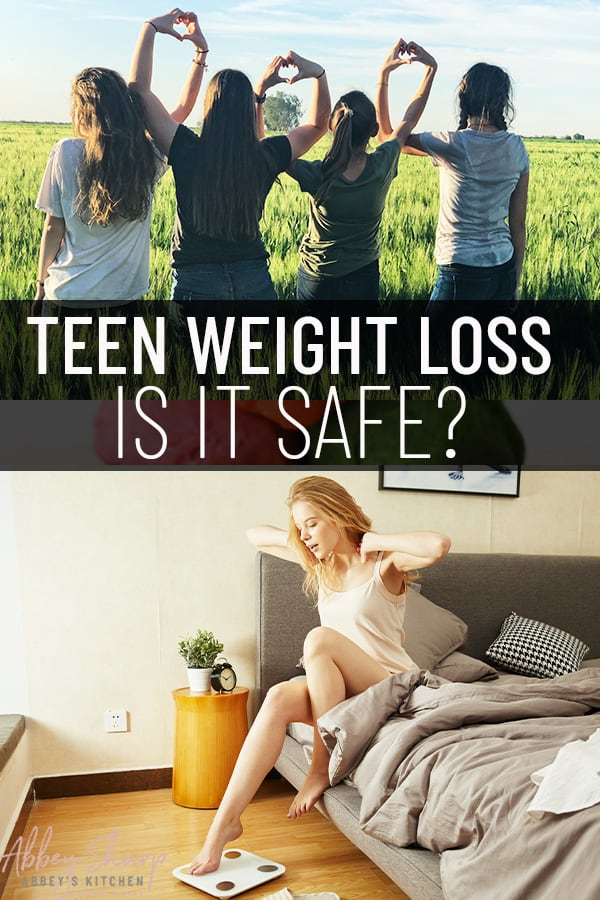 pinterest image of teen weight loss safety