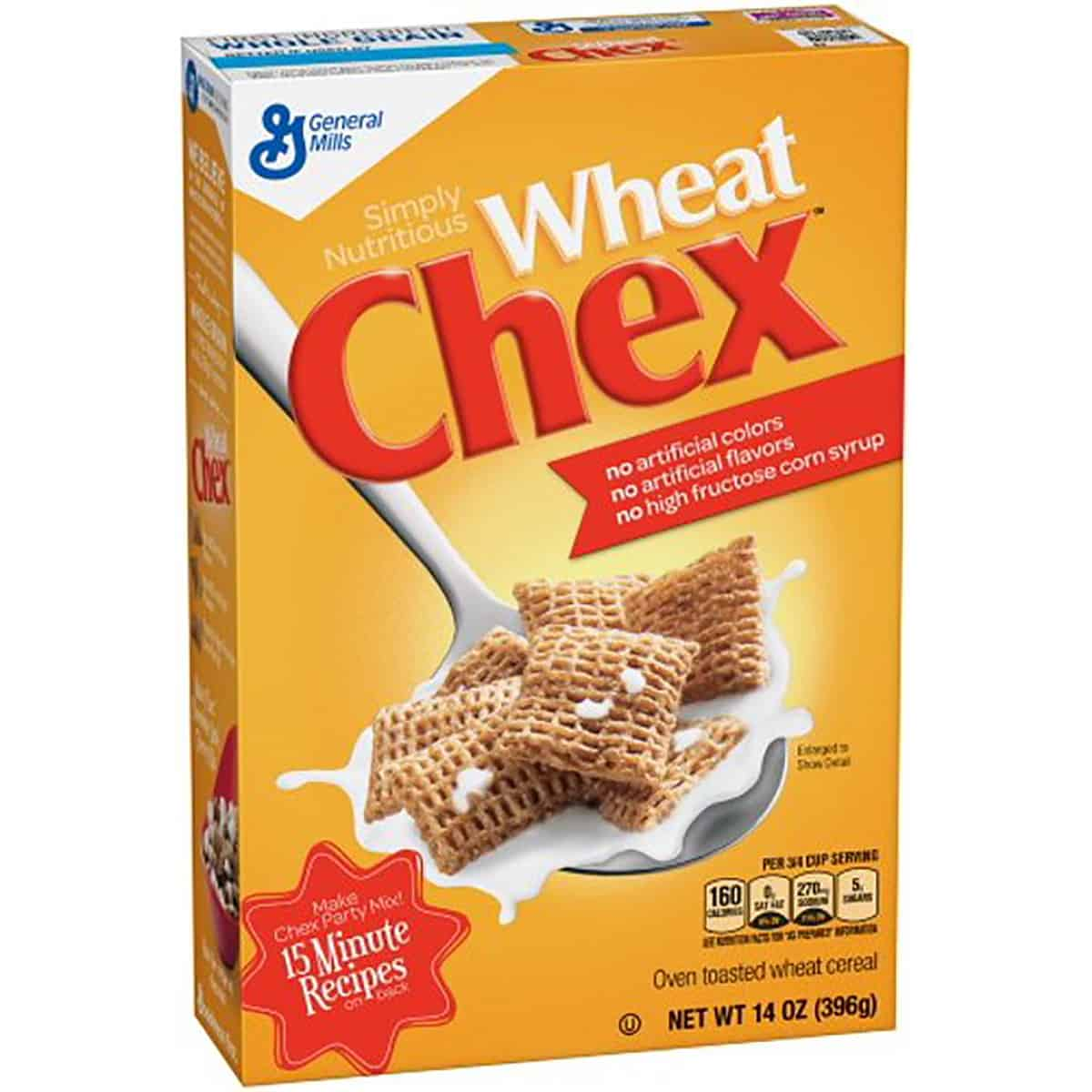 A package of wheat chex cereal.