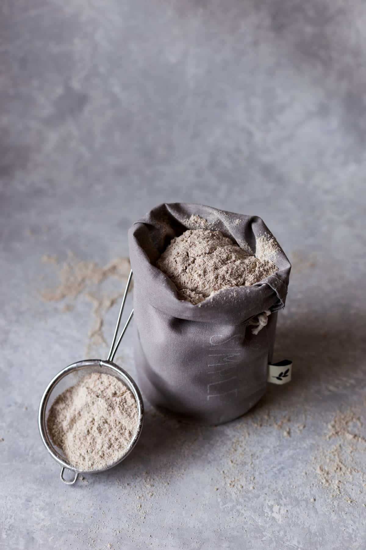 A bag of healthy flour.