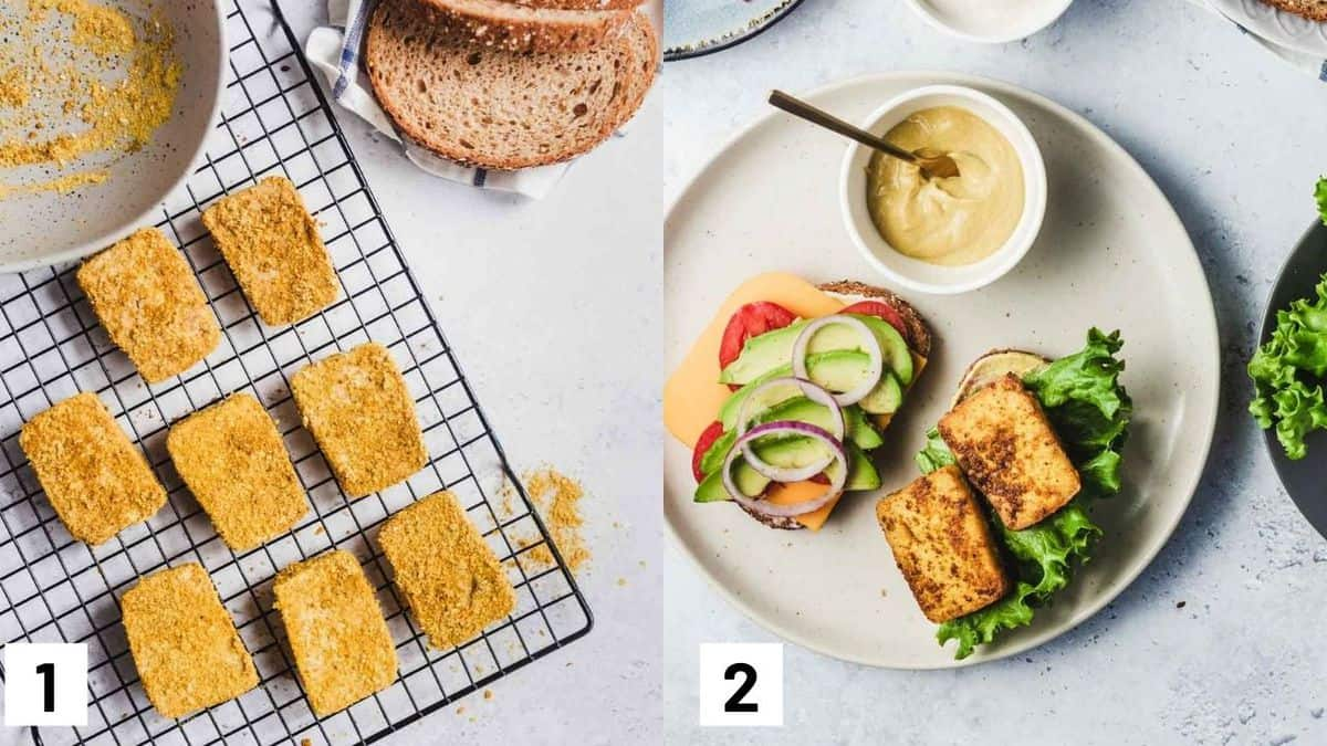 Two side by side images showing how to prepare recipe.