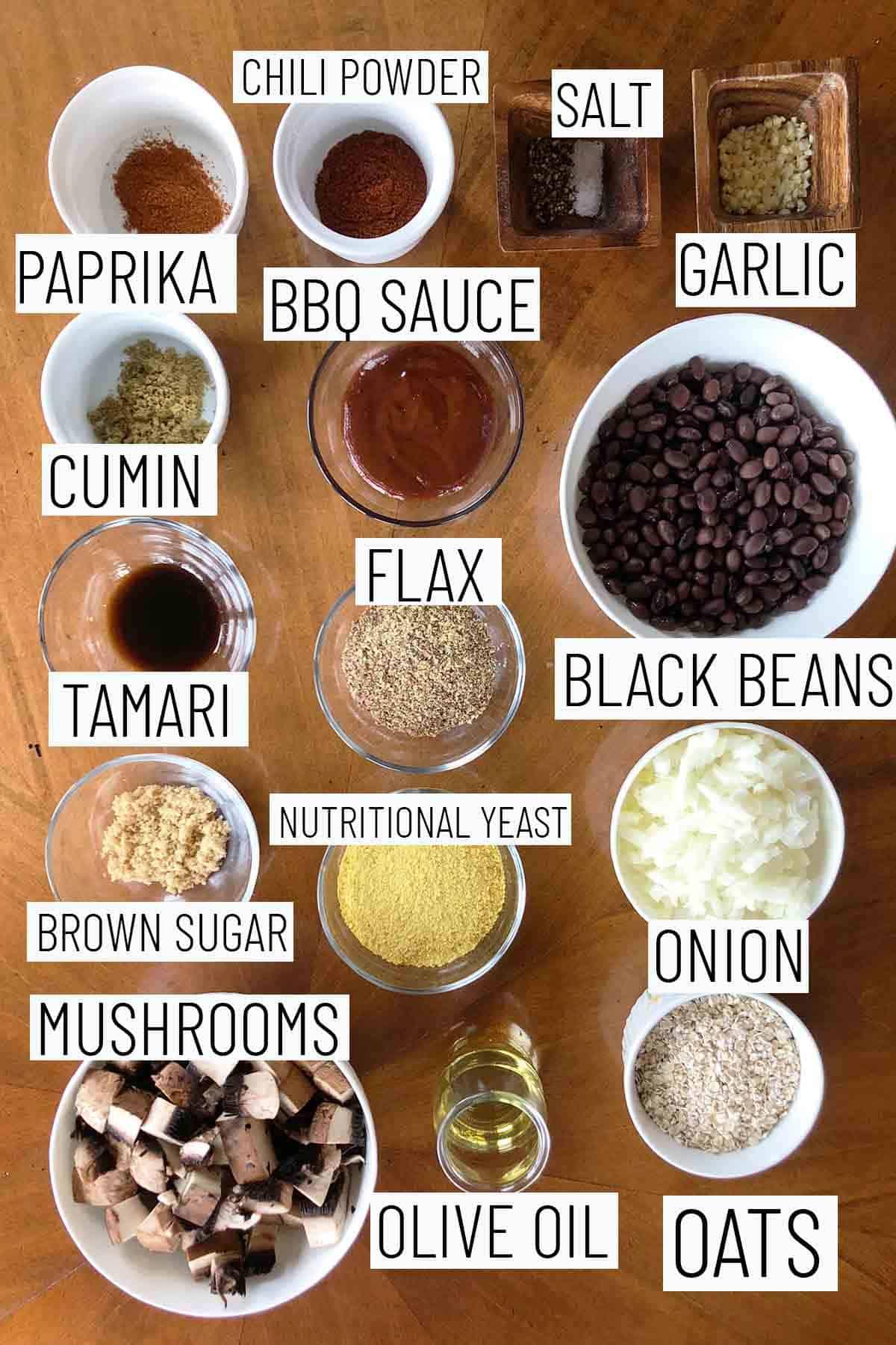 Flat lay image of recipe ingredients.