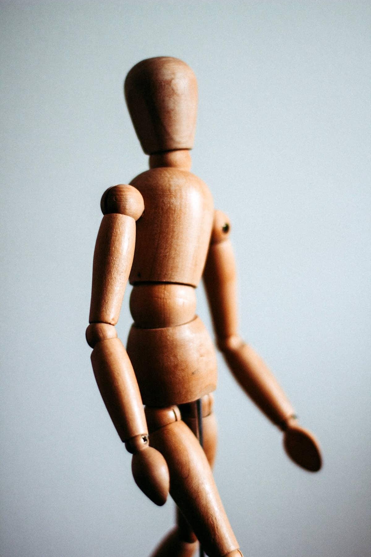 A wooden dummy.