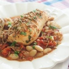 cassoulet, chicken cassoulet, healthy cassoulet, high fibre cassoulet