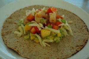 Chipotle Shrimp Tacos with Corn Guacamole & Pineapple Salsa