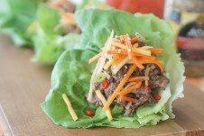 Healthy Asian lettuce wraps