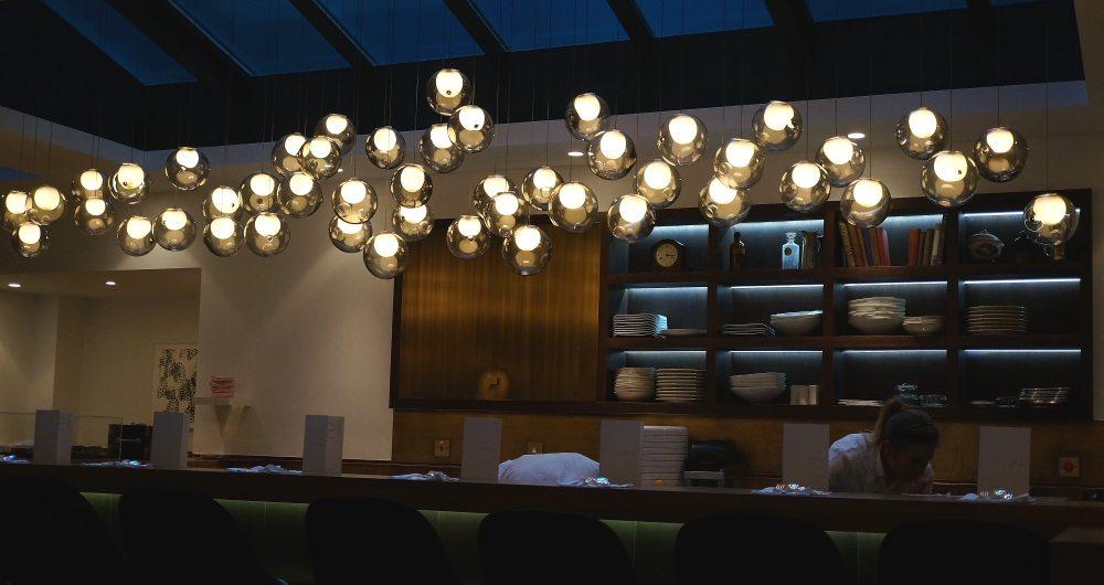 The bar of Pollen Street Social restaurant.
