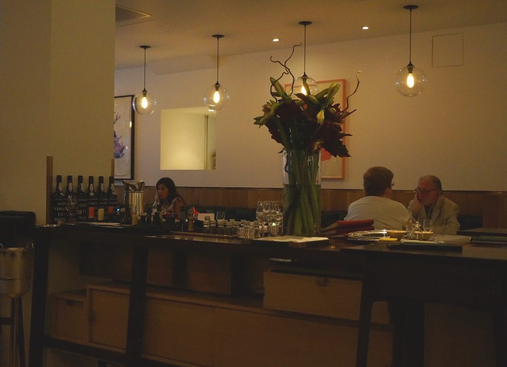 Inside of Pollen Street Social London restaurant.