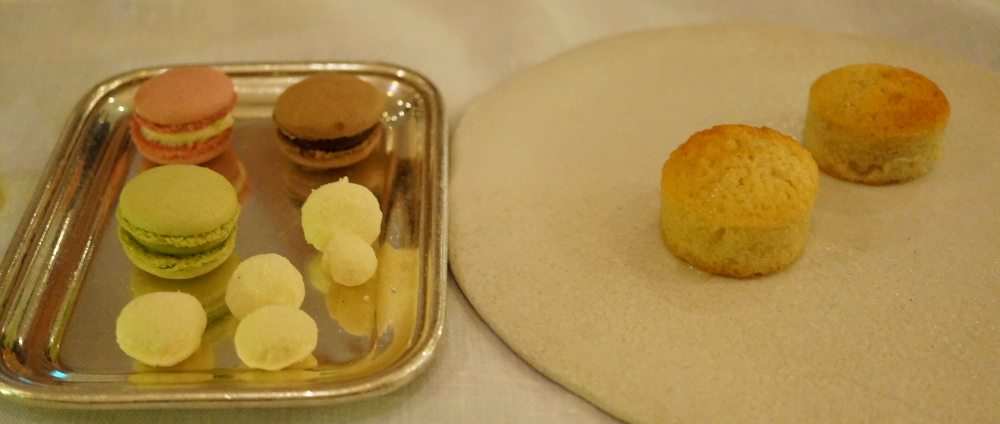 A tray of petit fours.