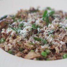 risotto, quinoa risotto, quinotto, healthy low fat risotto