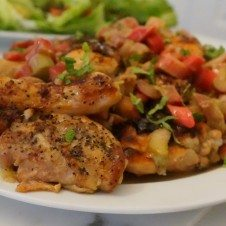 Healthy rhubarb spring chicken recipe