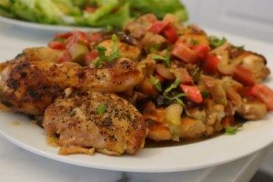 Healthy rhubarb spring chicken recipe